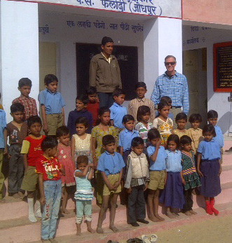 Elstrott honored with dedication of elementary school in India