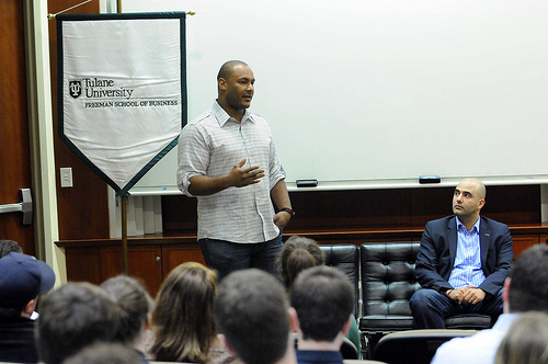 NFL's Smith and Atallah talk business with MBA students