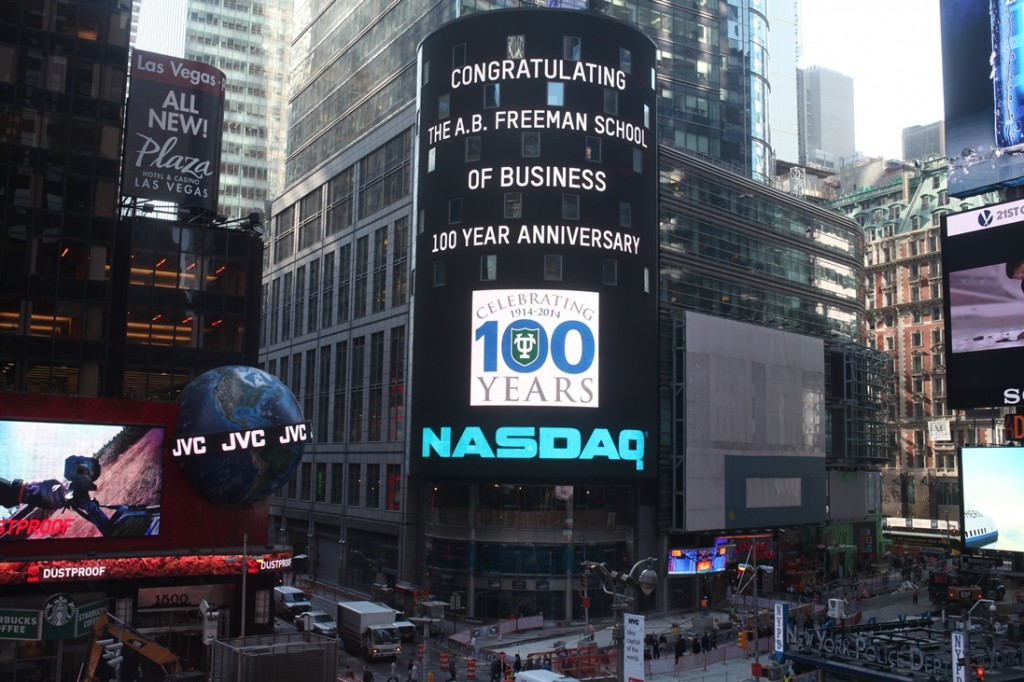 NASDAQ sends Freeman a seven-story high salute