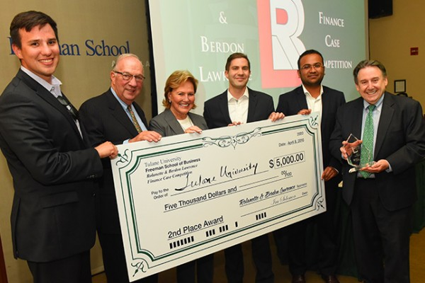 Tulane University earned second place honors in the 20th annual Rolanette and Berdon Lawrence Finance Case Competition.