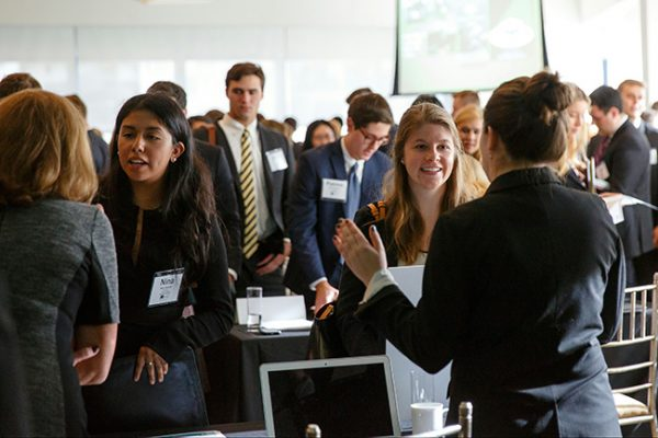 More than 200 students traveled to New York in October to participate in Tulane Takeover: NYC, a networking and career development event co-sponsored by the Career Management Center. Photo by Michael Jurick.