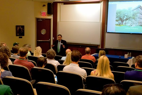 """Dean Ira Solomon discussed the Freeman School's dramatic growth as part of his homecoming """"state of the school"""" address."""