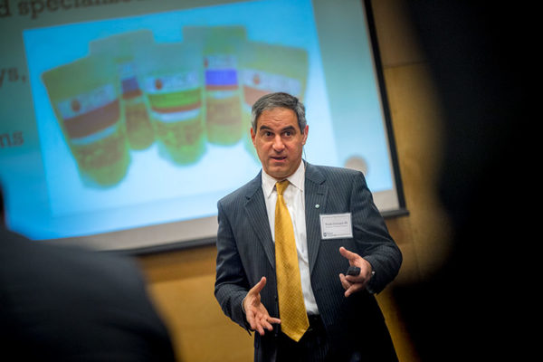 During Friday's Tulane University Family Business Forum, Frank Germack III, alumnus and co-owner of Germack Pistachio Co., shared how his family business found a place among large corporations. (Photo by Paula Burch-Celentano)