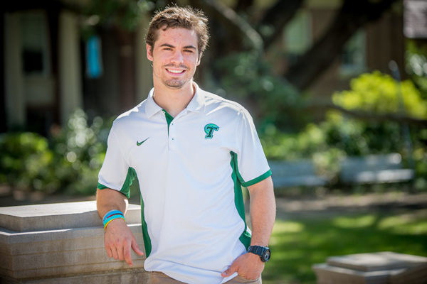Marshall Wadleigh (BSM '17) joined the Tulane football program as a walk-on in 2013, maintained a 4.0 grade point average and by his senior year, was awarded a scholarship by head coach Willie Fritz. (Photo by Ryan Rivet)
